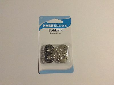 Habee Savers Sewing Machine Bobbins Metal 5 Pack X 2
