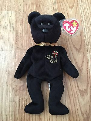 Ty Beanie Babies The End Bear 1999 Tags Retired