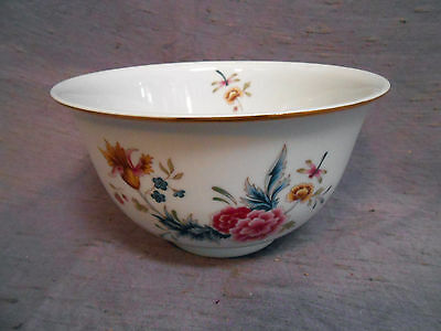 Avon American Heirloom Independence Day 1981 Bowl - White w Flowers & Dragonfly