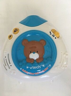 "VTech Lullaby Bear Crib Projector Musical Toy 5"" Works"