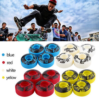 Newest UGIN 4Pcs 52mm x 30mm Pro Cruiser Longboard Skateboard Wheels Skull Roll