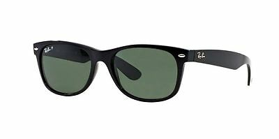New Ray Ban RB2132 901/58 55MM 145 Wayfarer Black/Green Classic G15 Fast Ship