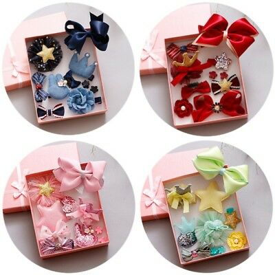 10pcs Baby Girls Toddler Bow Hair Clip Flower Hairpin Barrettes Party Headwear