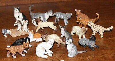 Schleich & Safari LARGE LOT of Cats   17 CATS!