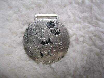 Rare Orig 1933 Ingersoll Character Disney Mickey Mouse Pocket Watch Fob ONLY