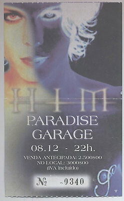 Him  Used Concert Ticket Portugal 08/ 12/ 2000