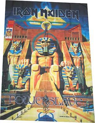 IRON MAIDEN powerslave  POSTER TEXTILE FLAG NEW IN BOX