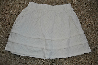 NWT Children's Place Crochet Layered Skirt Cream-Colored, Size M (7/8)