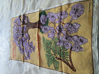 Pure Linen Tea Towel - Jacaranda - Greetings From Grafton