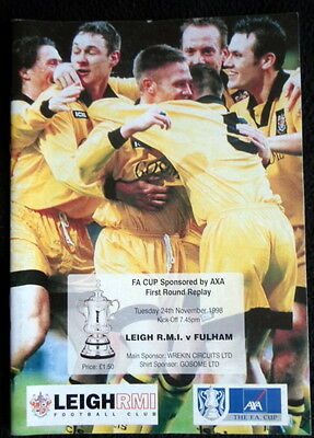 Leigh R.M.I.v Fulham fa cup 1st round replay  24-11-1998
