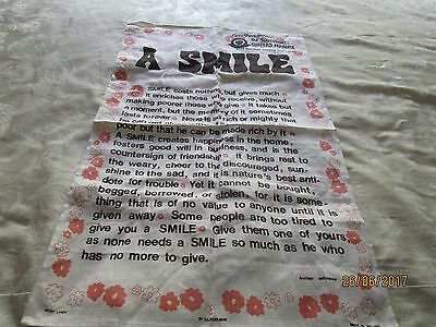Pure Linen Tea Towel - A Smile - Made In Ireland