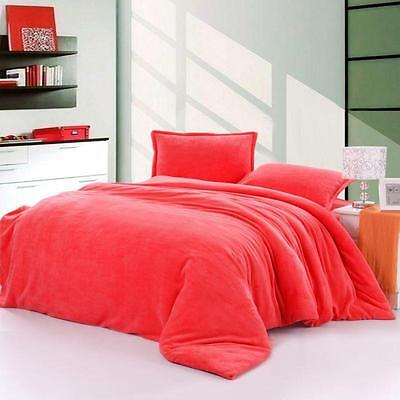 1200 TC Egyptian cotton 3 Pc. Coral Double size bedding set / bed sheet