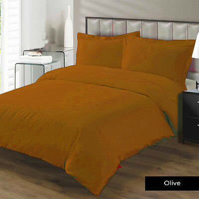 "1200TC Egyptian cotton 16""Pocket 3 Pc. Rust Emperor size bedding set / bed sheet"