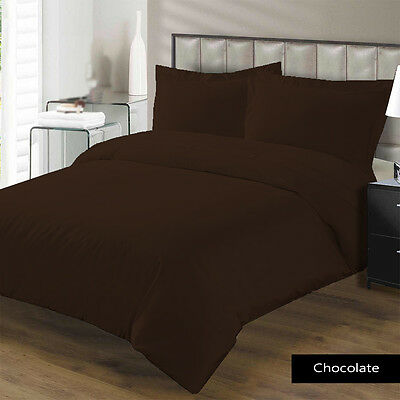 1200 TC Egyptian cotton 3 Pc. Dark Brown Double size bedding set / bed sheet
