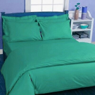 1200 TC Egyptian cotton 3 Pc. Sea Green Single size bedding set / bed sheet