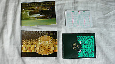 Rolex Day-Date  Booklet - deutsch von 1-1999, englisch / UK , Set