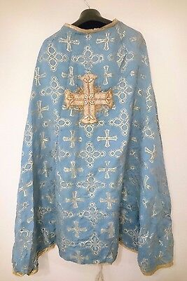 Antique Russian Stole Vestment Gold-Embroidered Gold Thread 19th c.