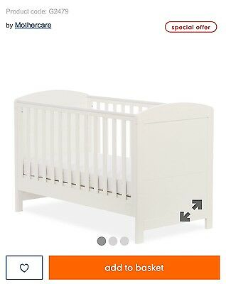 Mothercare Cot Bed  & Mattress  NEW