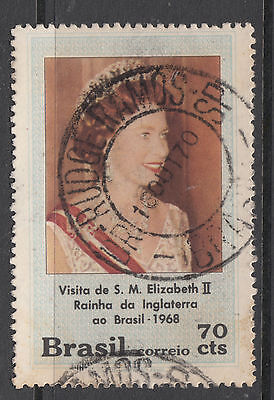 BRAZIL 1968 70c Royal Visit  Very Fine Used