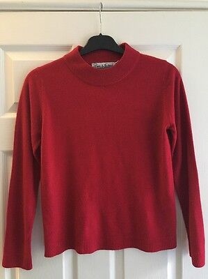 Vivien of Holloway 50s Vintage Style Top Size 10-12 VOH 14 Red Jumper