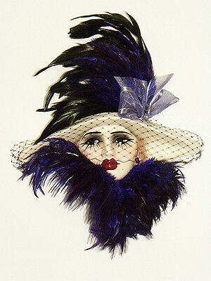 Brand New - Unique Creations Masked Lady Face Mask Wall Hanging Decor