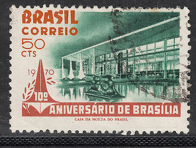 BRAZIL 1970 50c 10th Anniv.  Very Fine Used