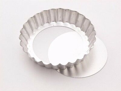 Tala Individual Loose Bottom Fluted Flan Tin - 10cm/4 Inch
