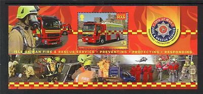 ISLE OF MAN MNH 2013 Fire & Rescue M/S