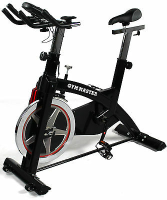 REBOXED Gym Master EXERCISE PRO BIKE Workout Cycling Fitness Machine in Black