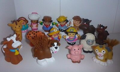 Bulk Lot of 16 - Fisher Price Little People - Various People &  Animals