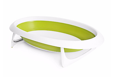 Boon Naked 2 Position Collapsible Baby Bathtub Green,Green/White