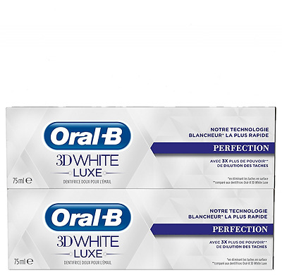 Oral-B - Dentifrice 3D White Luxe perfection - 75ml - Lot de 2 - NEUF