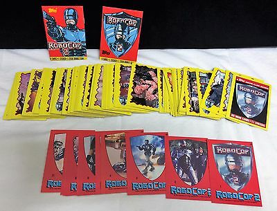 1990 Topps Robocop 2 Trading Cards 88 And Stickers 11 Complete Set High Grade