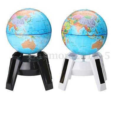 Automatic Electric Rotary World Globe Earth Atlas Map Geography Education Gift