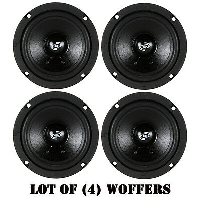 """Lot of (4) PylePro PDMW5 5"""" High Performance Mid-Range Driver 100W RMS 8 Ohm"""
