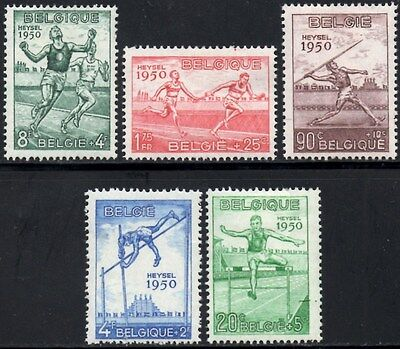 Belgium 1950 Athletics  SG.1311-1315 Mint (Hinged) Set Cat:£100 Sc:B480-B484