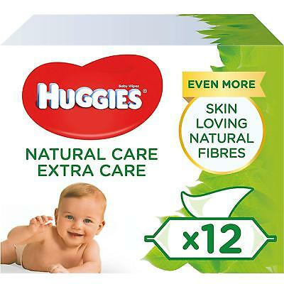 Huggies Natural Care Baby Wipes Fragrance & Alcohol Free 20 Pack Total 1120 Wipe