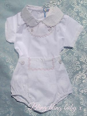 Baby Boys Spanish Romper 2 Piece Set Outfit Shorts Shirt 0-3 Months Romany