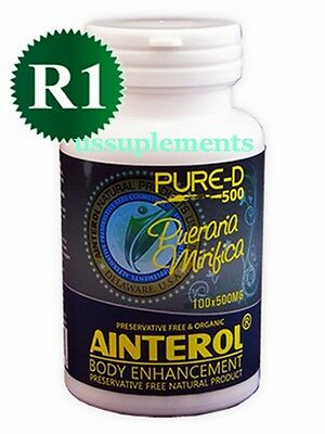 Ainterol 100% Pueraria Mirifica 500mg Big&Firm Breast Enlargement Ship From USA