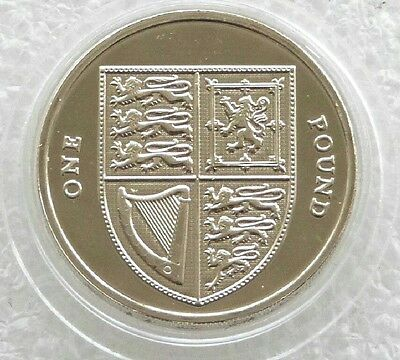 2016 Royal Shield of Arms BU £1 One Pound Coin Unc -