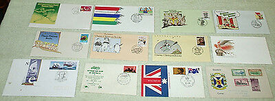 bulk three. unusual cancels or envelopes - first day covers