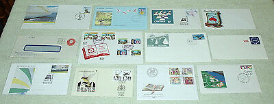 bulk four. unusual cancels or envelopes - first day covers