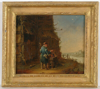 """Jean-Baptiste Leprince """"Russian peasant"""", important oil painting, 1760s"""