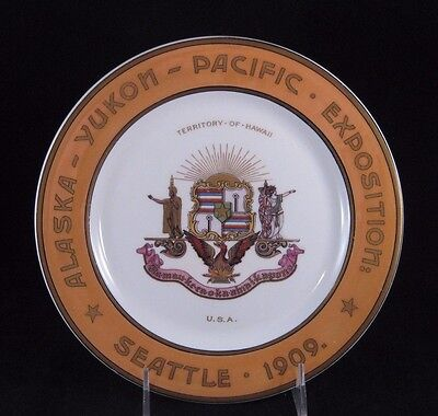 1909 Souvenir Seattle Alaska Yukon Pacific Exposition Plate Syracuse China