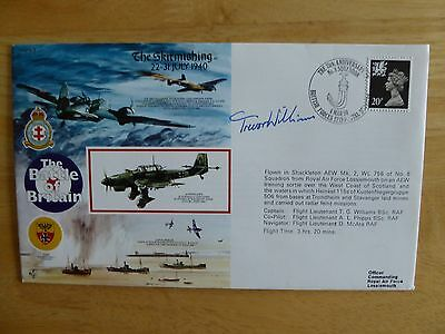"Battle of Britain - ""The Skirmishing"" cover signed by T.G. Williams 1990"