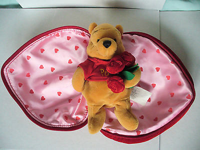 Winnie the Pooh soft toy / collectible heart shape