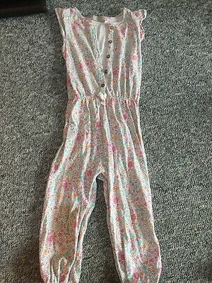 Toddler Girls Frilly Pink Floral  Jumpsuit Next Size 2-3 Years
