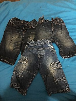 baby boys clothes 3-6 months jeans 3 Pairs
