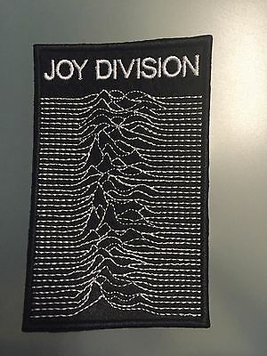 "JOY DIVISION LOGO UNKNOWN PLEASURES- Embroidered Iron On Patch 3"" x 4 1/2"".."