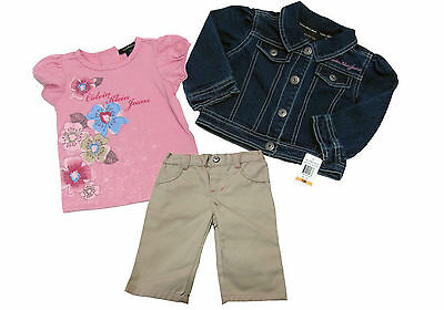 New Calvin Klein Jeans Baby Girl 3 Piece Clothing Set